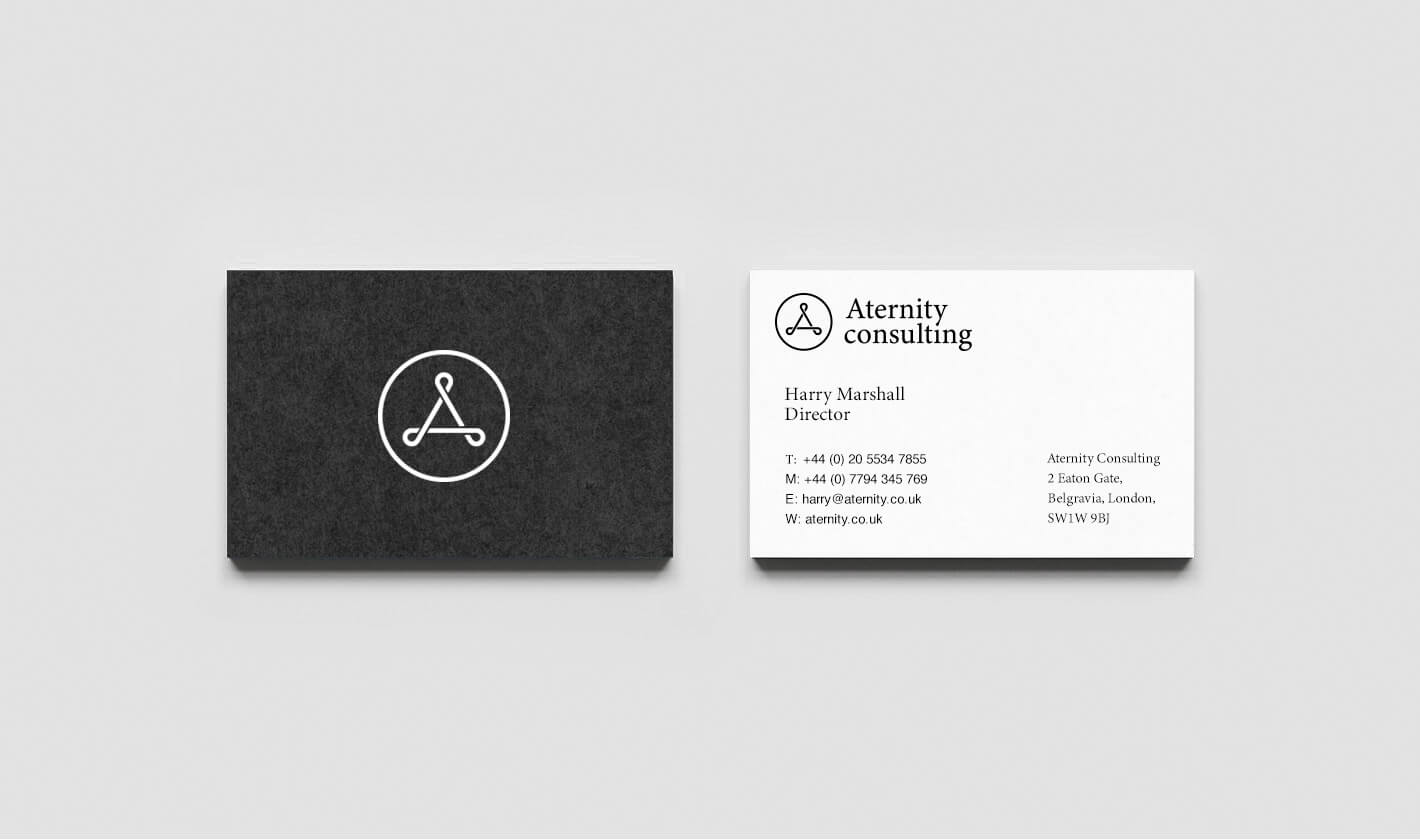 Business card print design