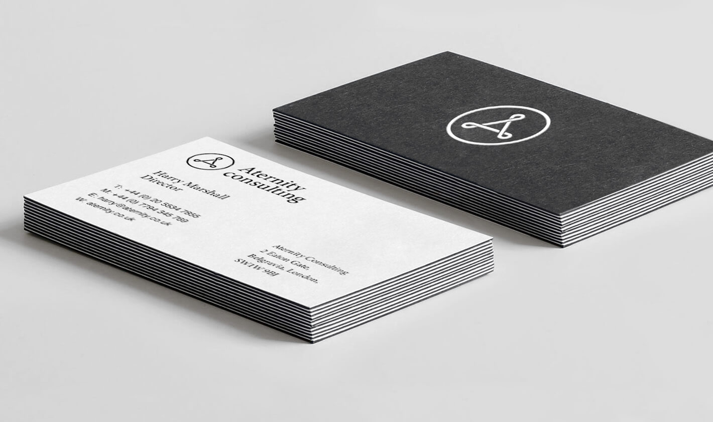 Business cards print design