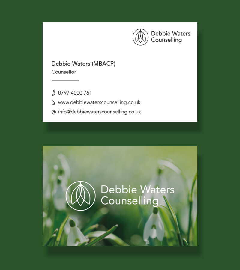 counselling business card design