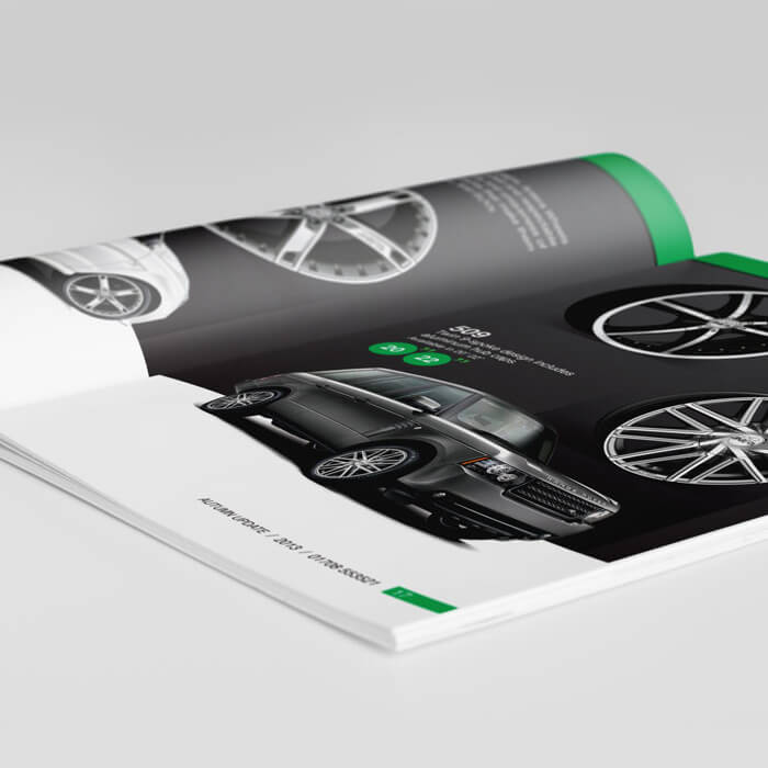 Elite wheel brochure design