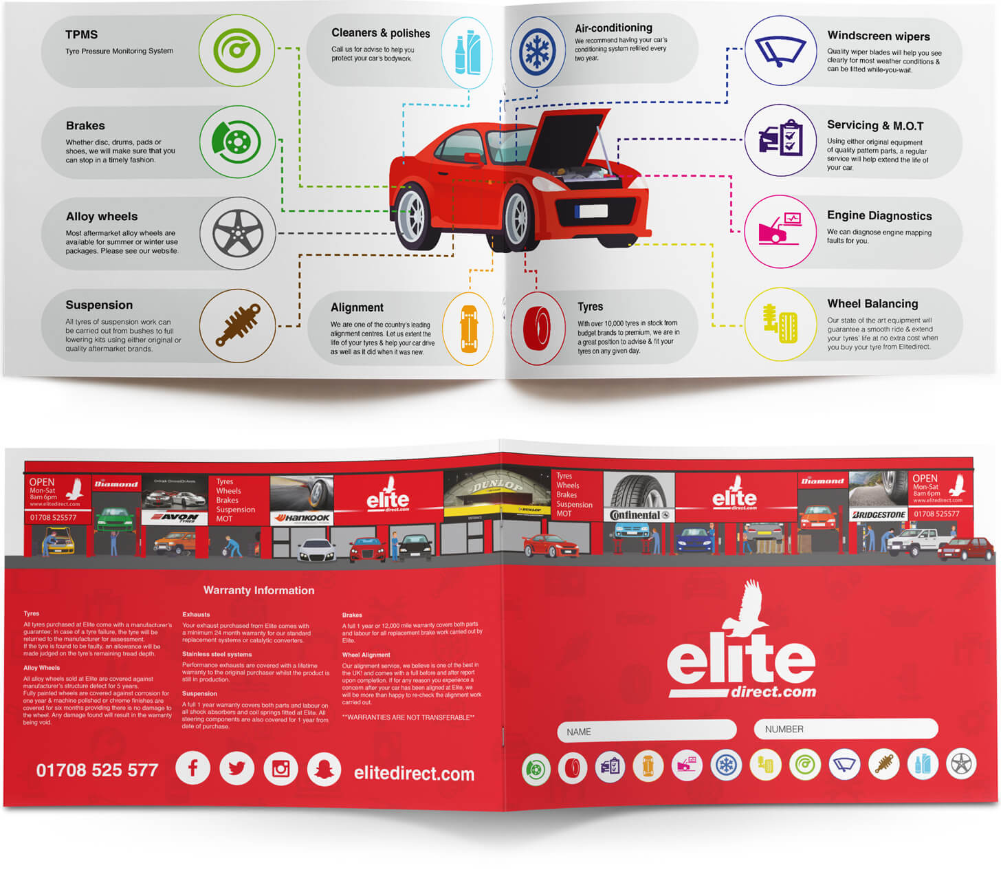 infographic design booklet
