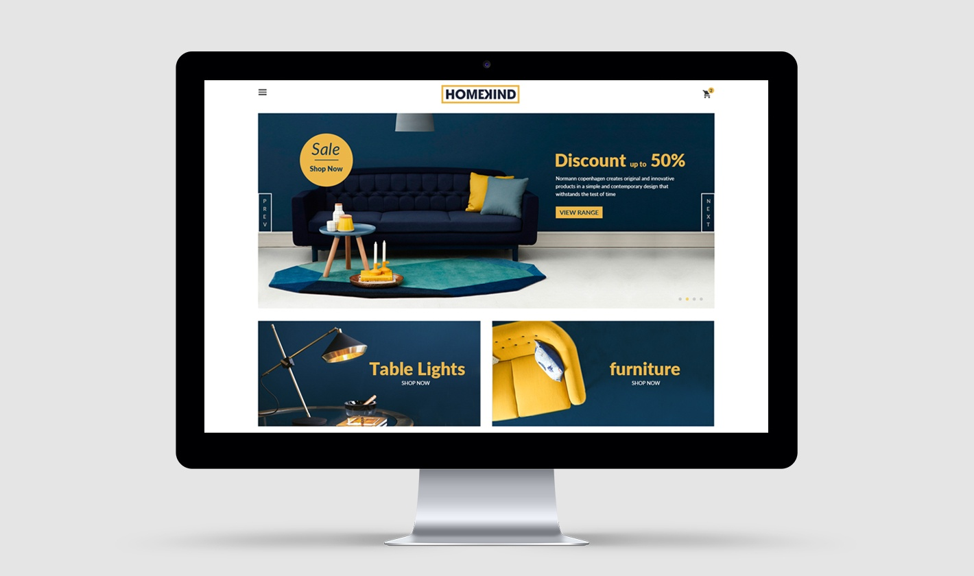 Homekind website design