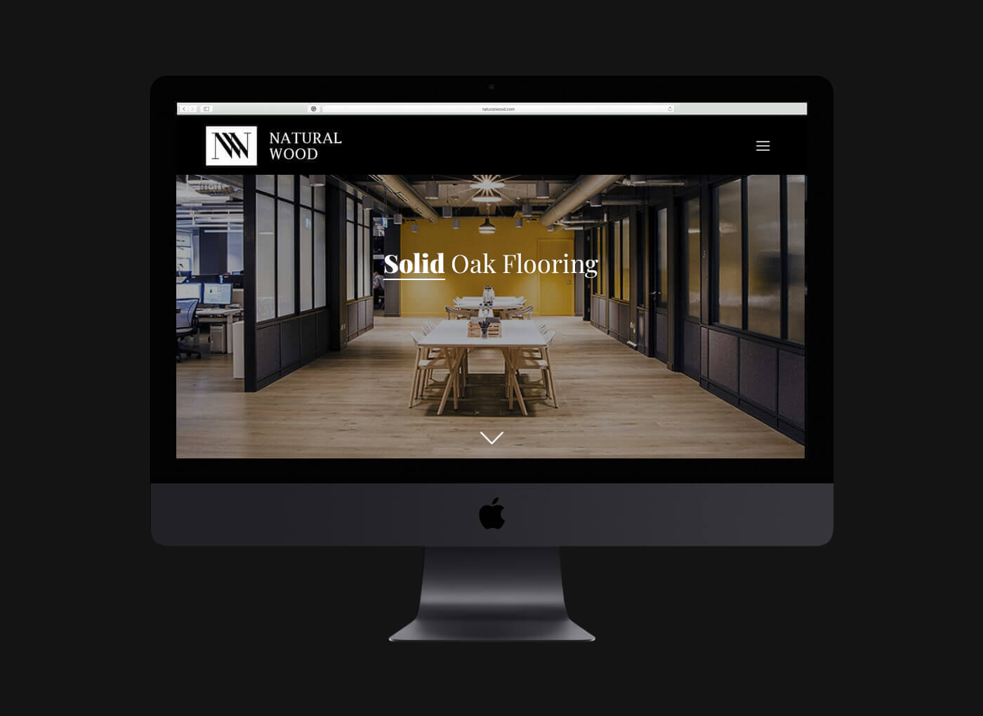wood website design