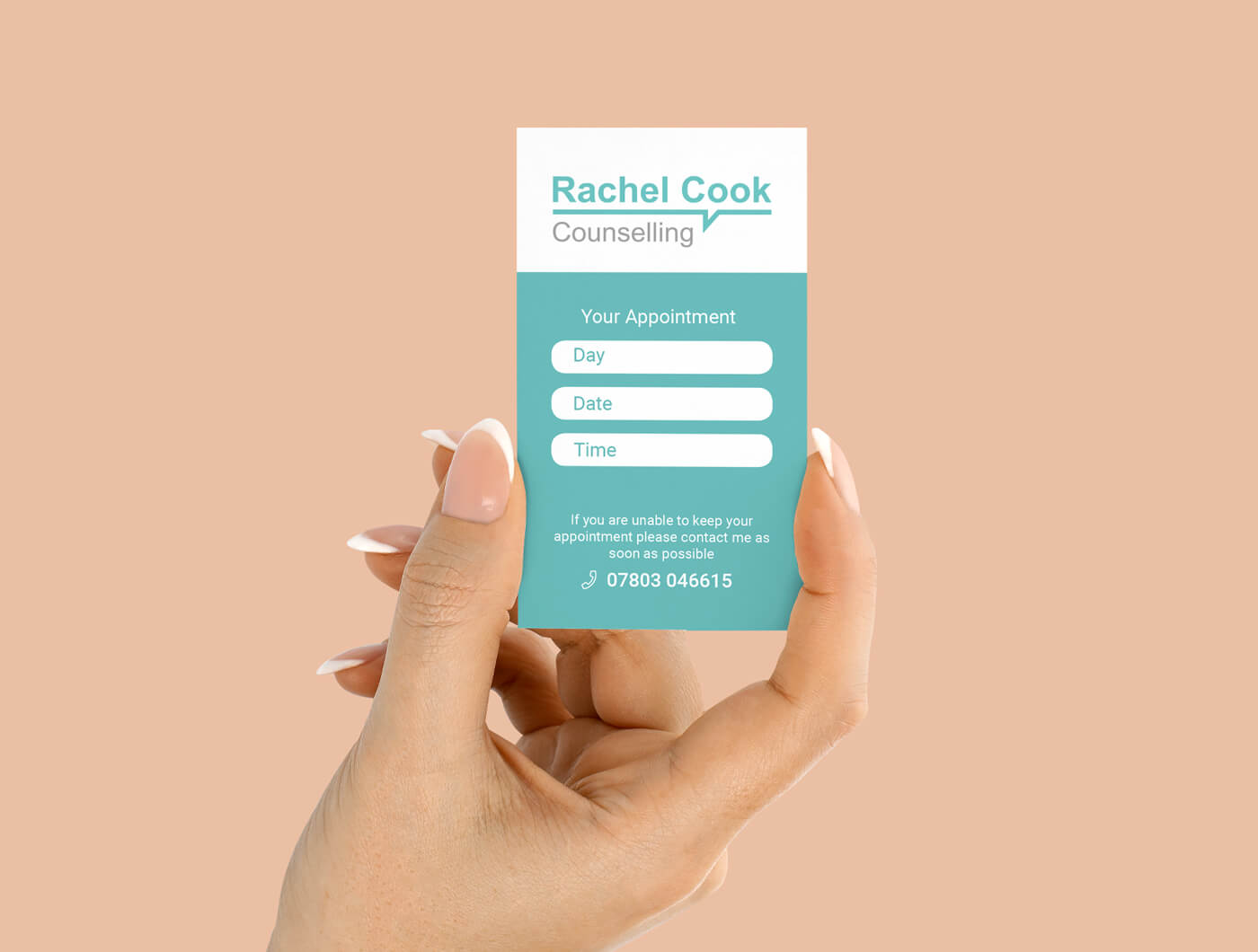 counselling appointment card design