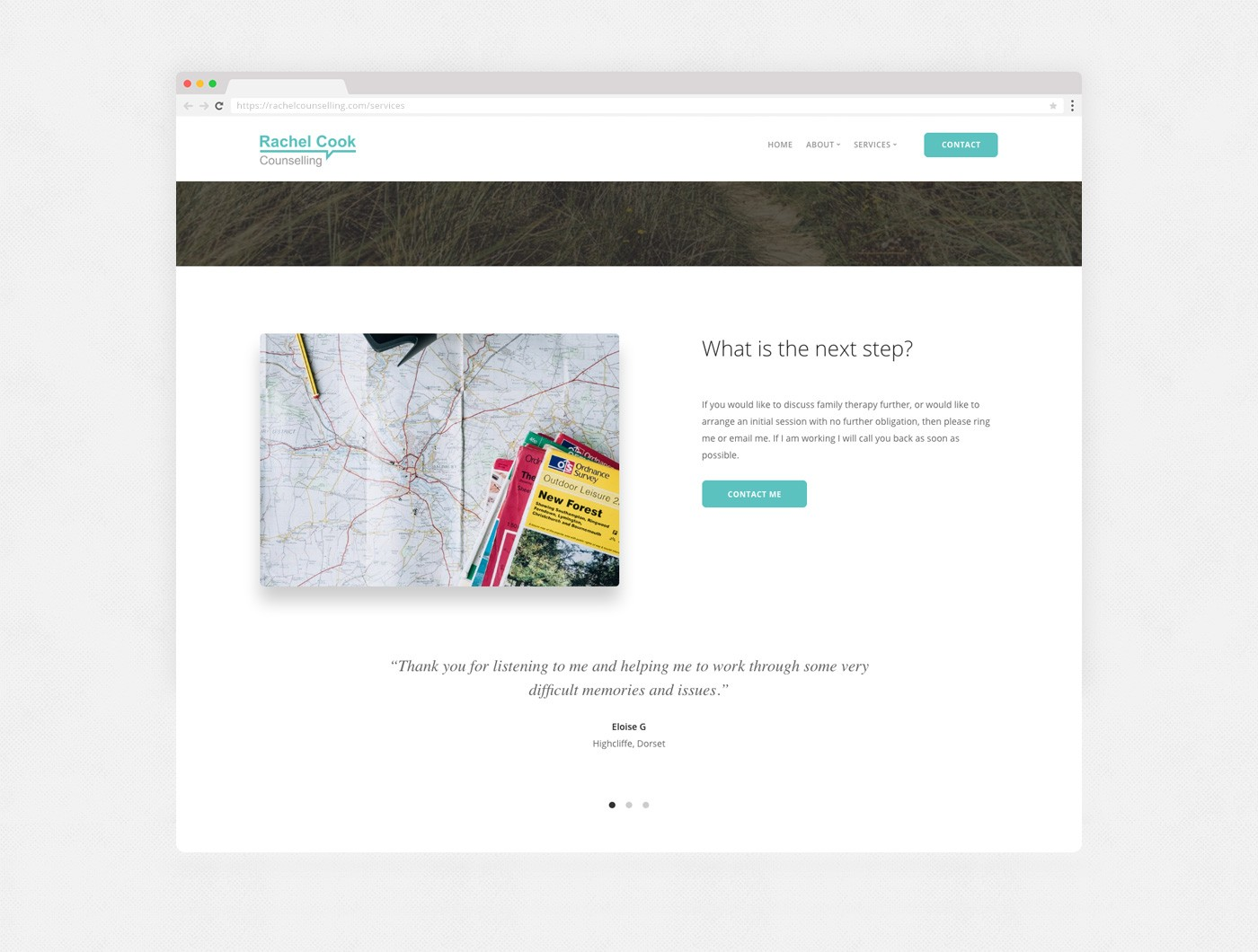 Website design for counsellor
