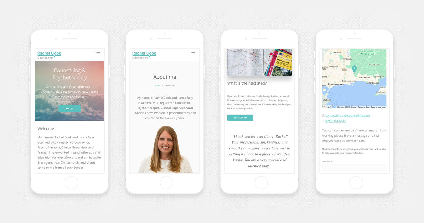 Mobile website design counselling