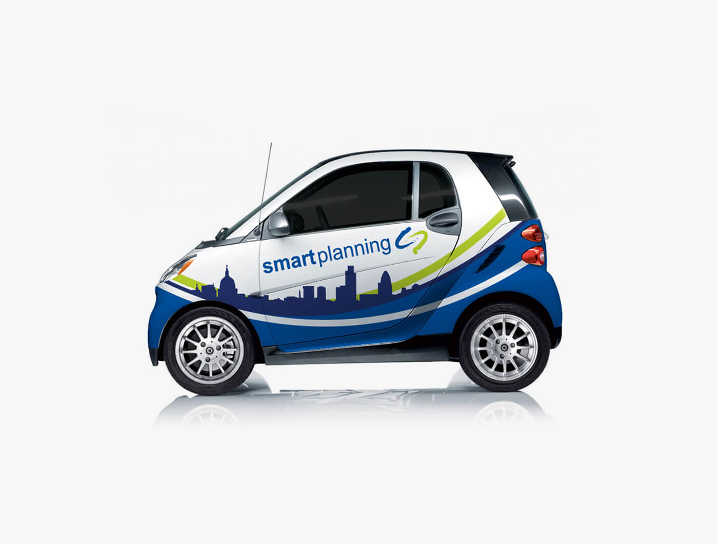 smart car vinyl wrap design