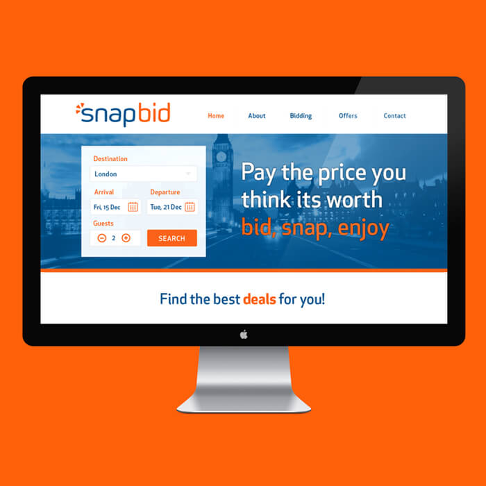 Snapbid website design
